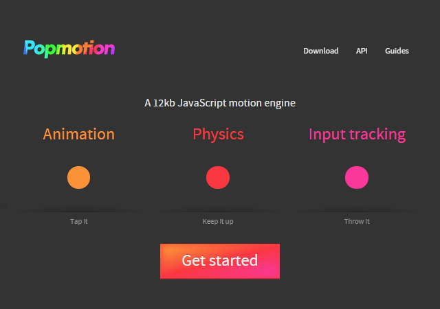 Popmotion: JavaScript Animation Library for Physics and Input Tracking