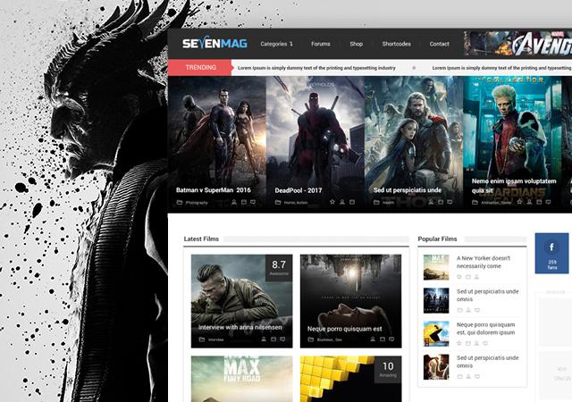 Sevenmag: Multipurpose PSD Web Template