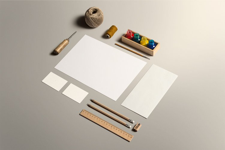 Stationery Art  Mockup