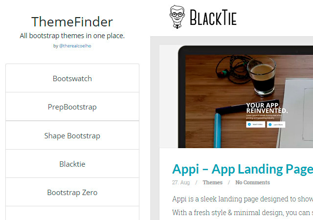 ThemeFinder: Huge Collection of Bootstrap Themes
