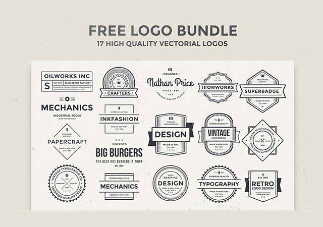 17 High-quality Logos Bundle
