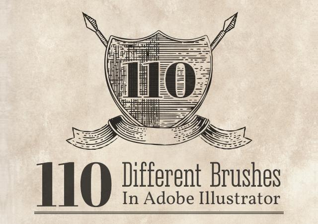 A Set of 110 Vintage Engraving Illustrator Brushes