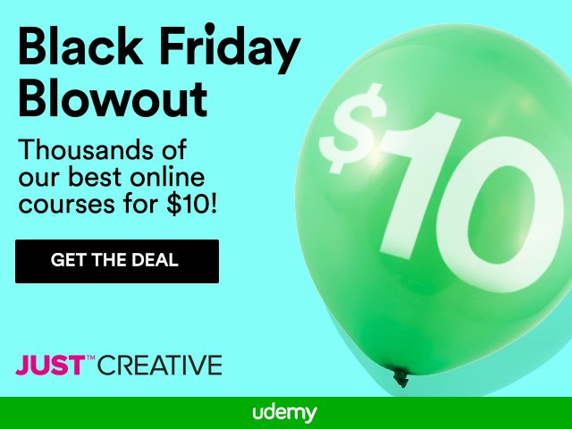 Udemy Black Friday Sale - Courses Just $10!
