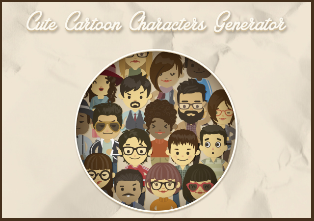Cute Cartoon Illustrator Characters Generator