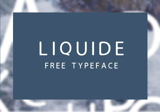 Liquide:  Water-related Typeface
