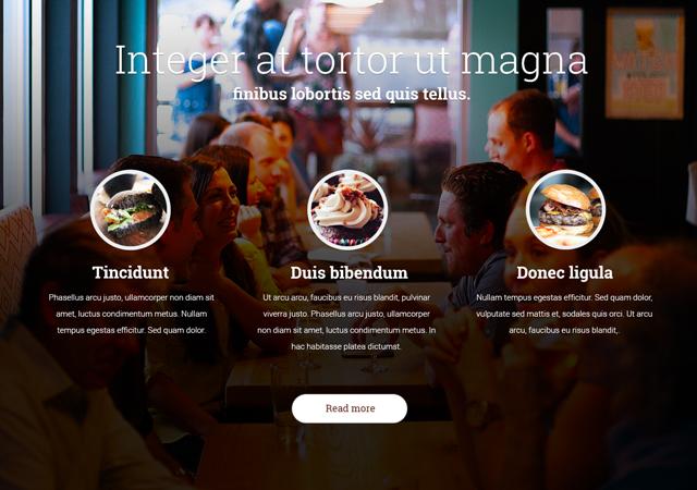 Panakeia: Restaurant PSD Web Template