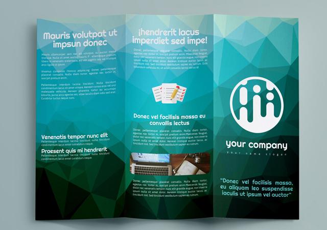 Professional Geometric Brochure Print Template