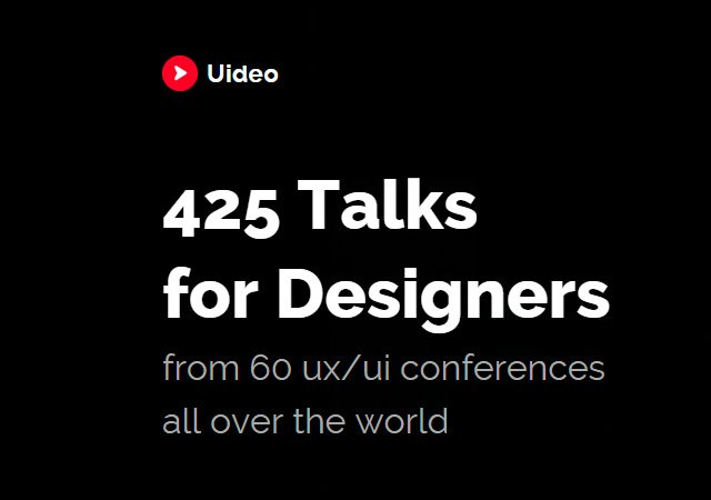 Uideo: 400  Conferences Videos for Designers