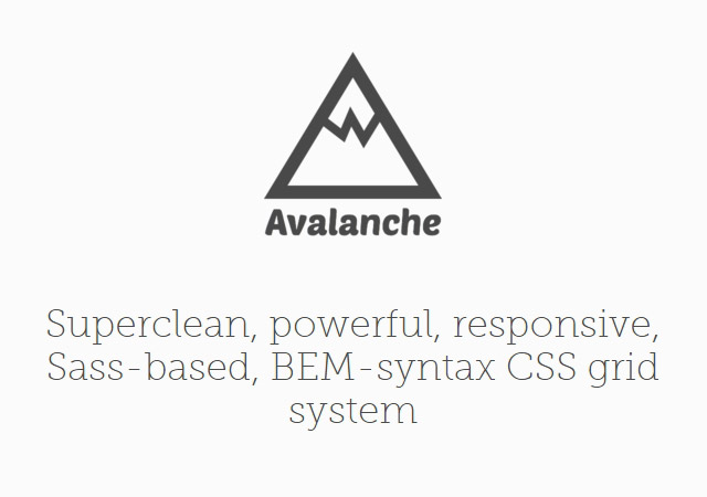 Avalanche: Responsive & Sass-based CSS Grid System