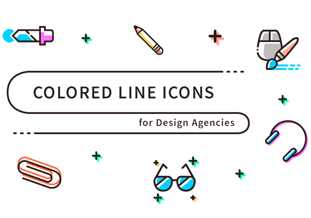 Colored Line Office  Vector Icons