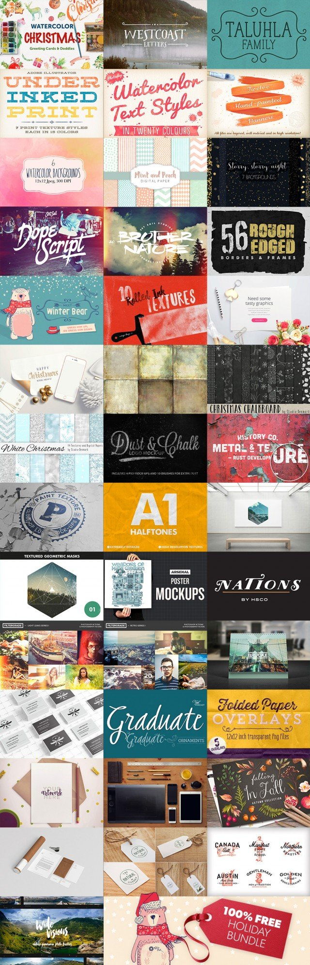 Massive End Of Year Design Bundle 100% Free