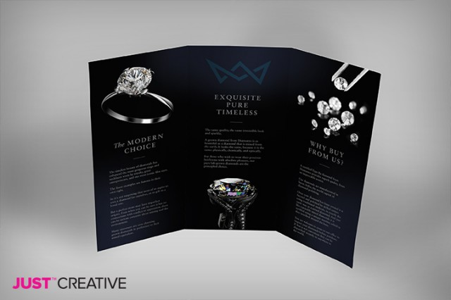 Diamond Brochure Mockup Back