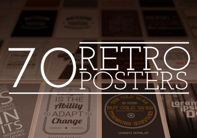 Retro Vintage Poster Designs Pack