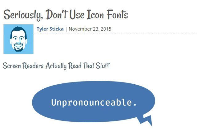 Seriously, Don't Use Icon Fonts (Article)