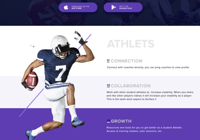 Sports Landing Page PSD & Sketch Template