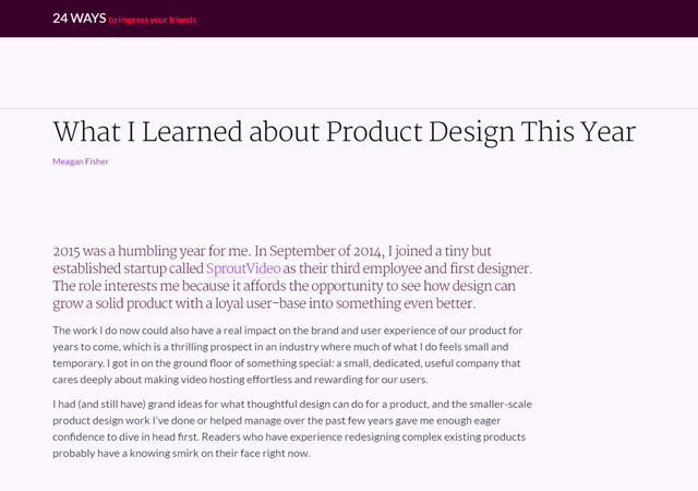 What I Learned About Product Design This Year