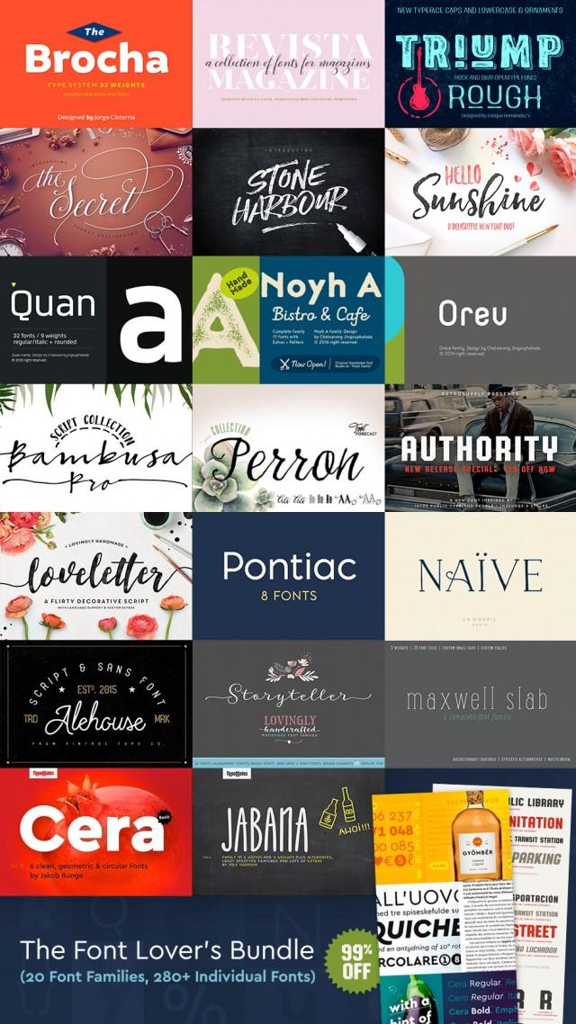 Font Lovers Bundle