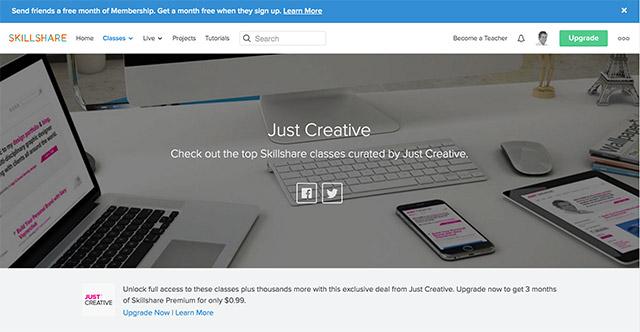 SkillShare - $0.99 For 3 Months Premium Membership