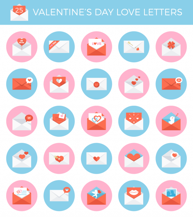 Free Wedding Valentines Day Mothers Love Letter Vector Icon