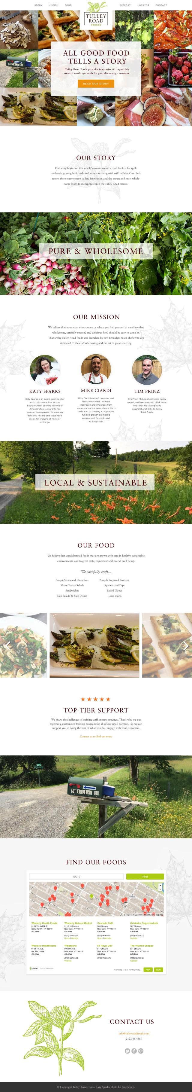 Tulley Road Website Design
