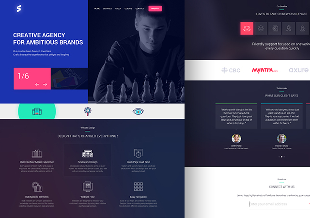 Creative Web Design Template PSD