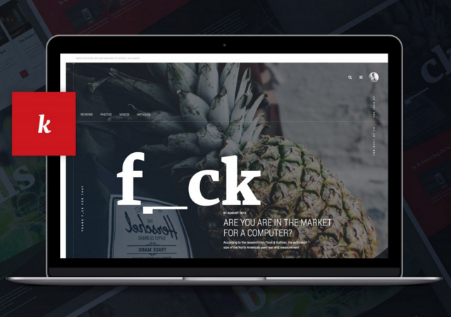 Dark Magazine PSD Website Template