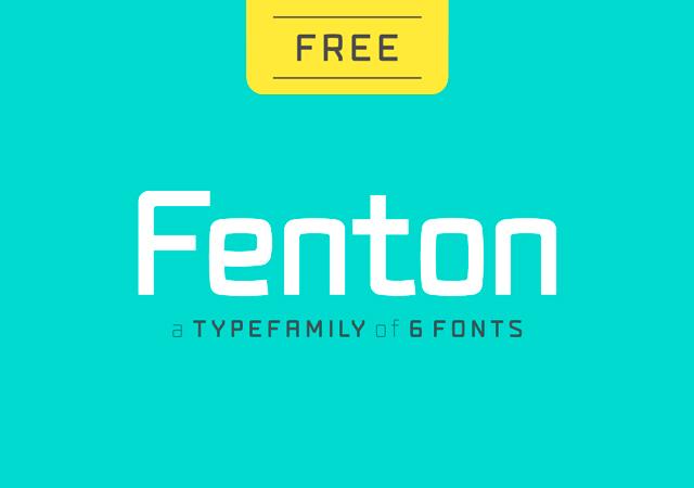Fenton: Modern Round-Squared Typeface