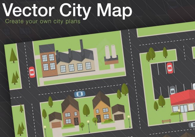 Free Vector Flat City Map Layout