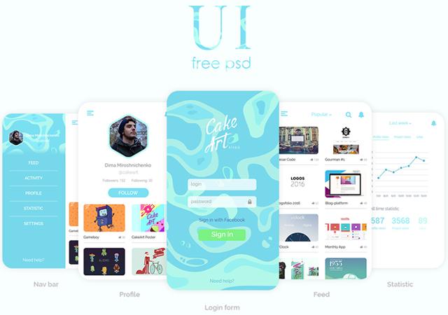 Huge Collection of Mobile UI Kits