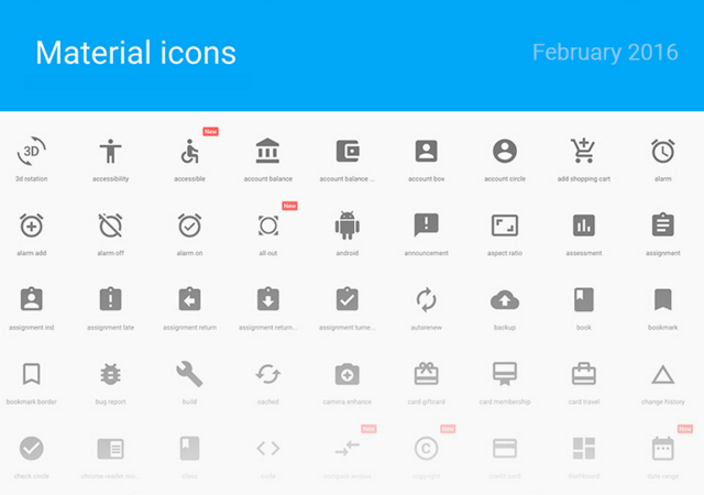 Material Design Sketch Icons Set