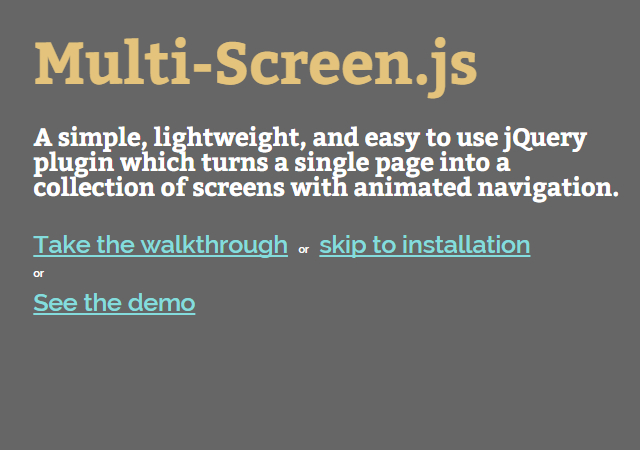 Multi-Screen Presentation jQuery Plugin
