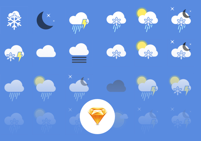 Weather PNG & Sketch Icons Set