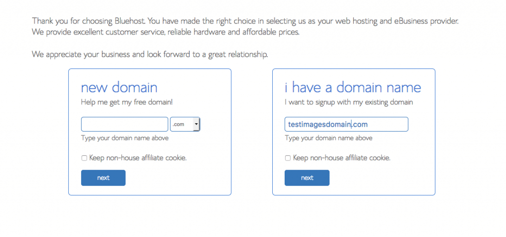 New Domain Select