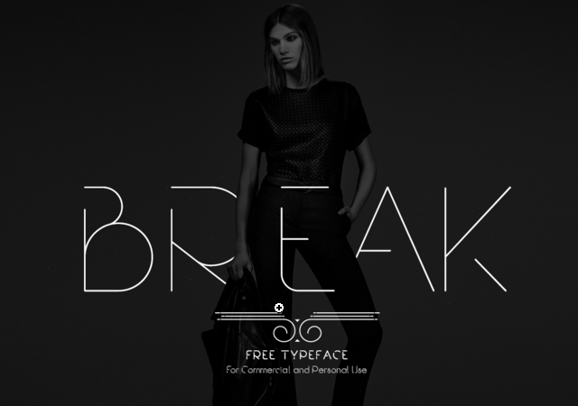 Break: Modern and Stylish Typeface