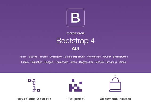 Complete GUI Pack Bootstrap 4
