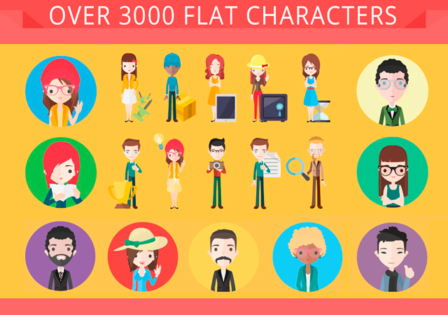 Great Collection of 20  Vector Character Sets