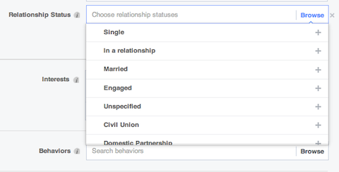 Facebook advanced targeting options