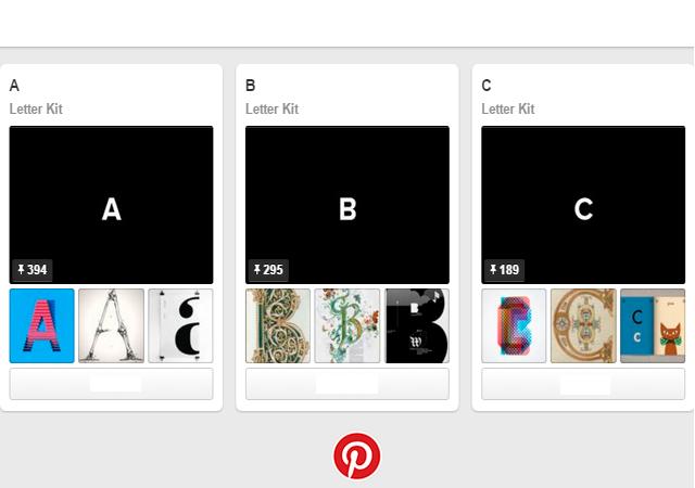 Pinterest Letters & Numbers Kit
