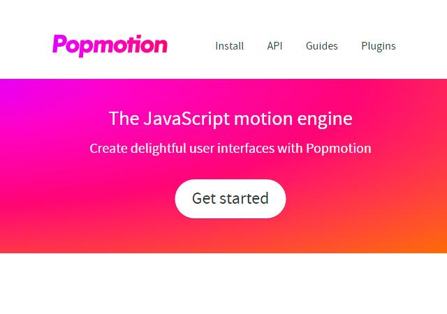 Popmotion: JavaScript Animated UI