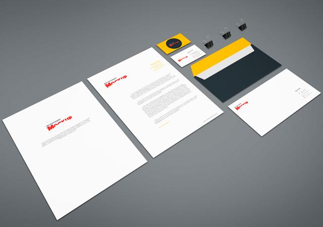 PSD Stationery Branding Identity Mockup