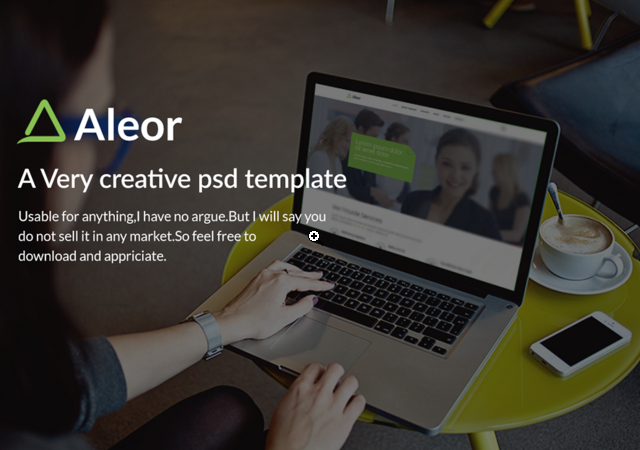 Aleor: Corporate PSD Template