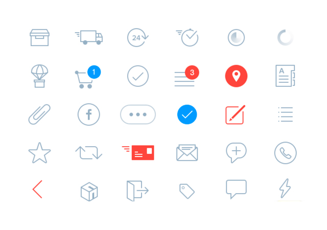 General Purpose Vector Sketch Icon Collection
