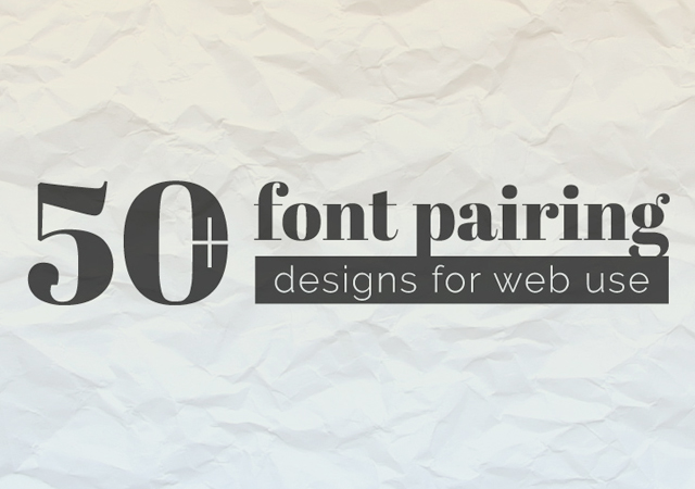 Unique Google Font Pairings Collection