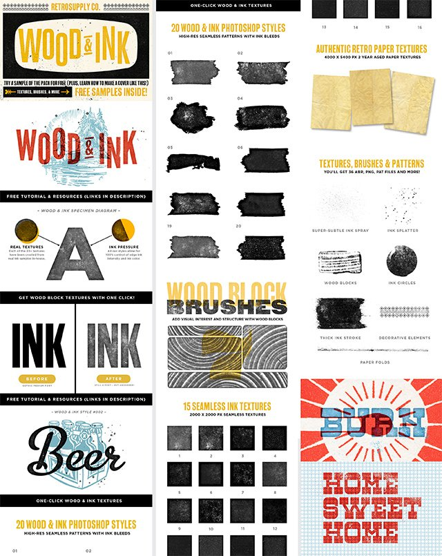 Wood & Ink Pack