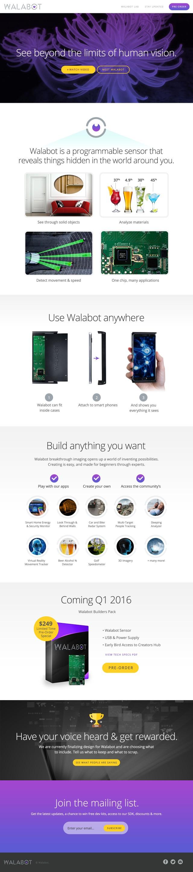 Walabot Website