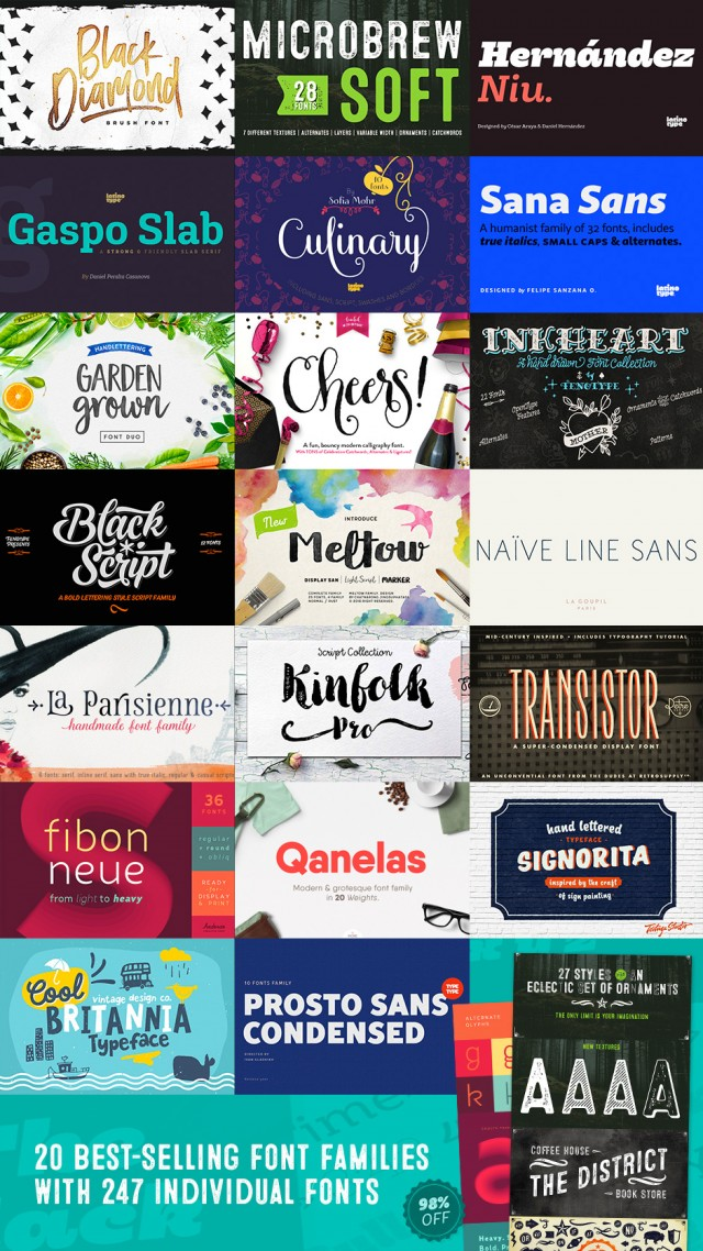 The Most Popular Fonts in the World Right Now for 98% Off