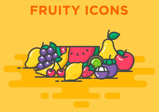 AI & PSD Fruity Icons