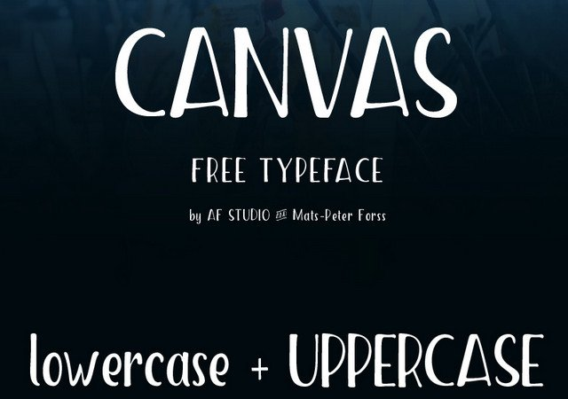 Canvas: Low-crossbar Handwriting Font