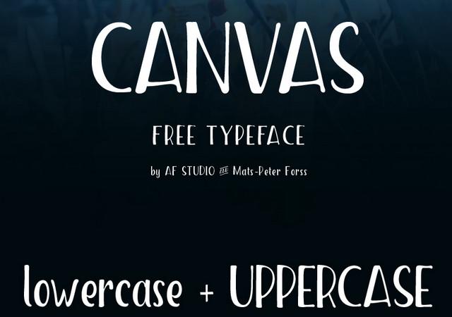 Canvas: Low-crossbar Handwriting Font