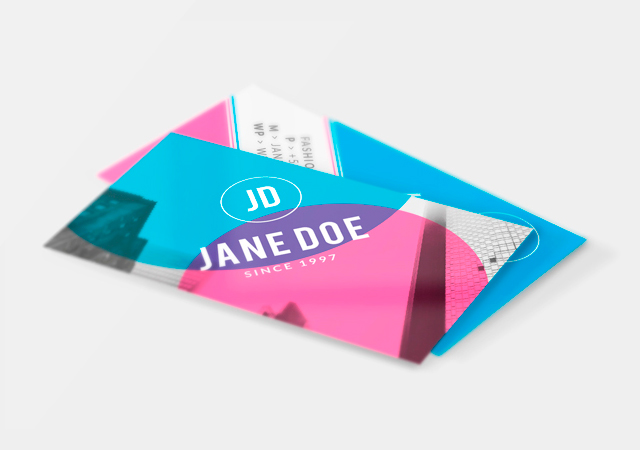 Fuchsia: Artistic Business Card PSD & Ai Template